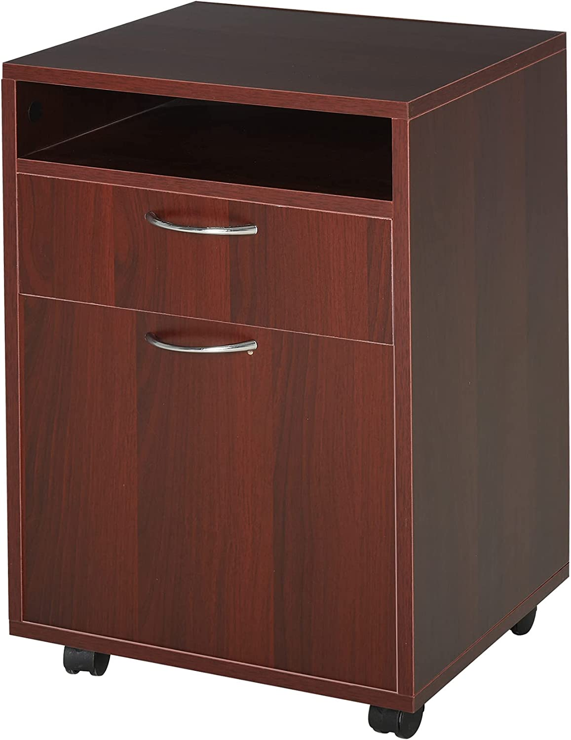 HOMCOM Mobile Genuine Free Shipping Max 63% OFF File Cabinet Organizer Home Organize Office Filing