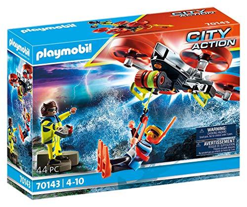 PLAYMOBIL City Action 70143 Seenot: Taucher-Bergung mit Rettungsdrohne, Ab 4 Jahren