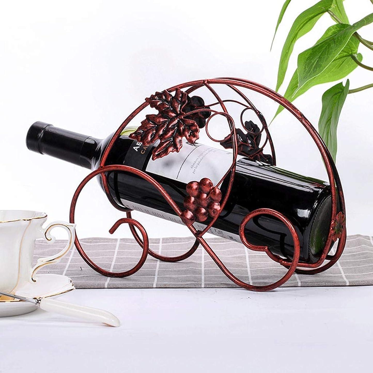 分解する新しい意味把握ワインラックヨーロッパメタルワインラックホームリビングルームワインカップホルダークリエイティブポーチ黒ワインラック (色 : ブロンズ)