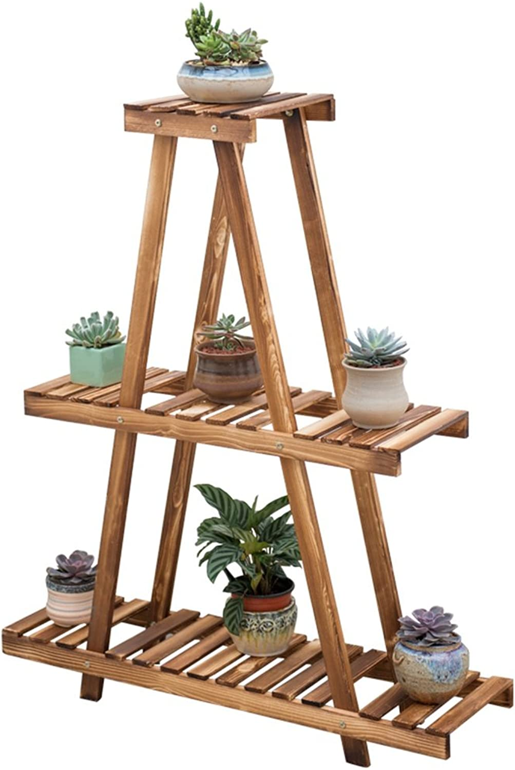 Plant Storage Rack Solid Wood Plant Stand Flower Ladder, 3-Layer Flower Stand, Multi-Layer Garden Display Stand Floor stand-L90xD25xH180CM