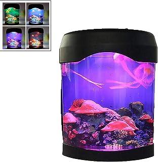 Yajun Led Jellyfish Aquarium Night Light Multi-Function Smart Colorful Lamp USB/Battery Powered DecoracióN para El Hogar LáMparas para Habitaciones De NiñOs