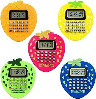 Relógio digital para crianças UKCOCO – Relógio com calculadora de desenho animado Morango Relógio de pulso multifuncional ...