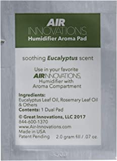 Air Innovations AP01-EUCALYPTUS Soothing Eucalyptus Essential Oil Humidifier Aromatherapy Refill Pads 12-Pack, White (Renewed)