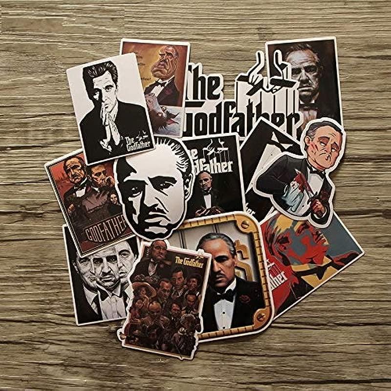 13pcs The Godfather Creative Badges DIY Decorative Stickers Cartoon PC Wall Notebook Phone Case Motor Home Garden