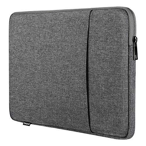 TiMOVO Funda Compatible con iPad Pro 12.9 2020, MacBook Air 13 Inch, MacBook Pro 13', Galaxy Tab S7+, Surface Pro X/7/6/5/4/3, Bolsa de 13 Inch Tablet Poliéster con Doble Bolsillo, Gris Oscuro