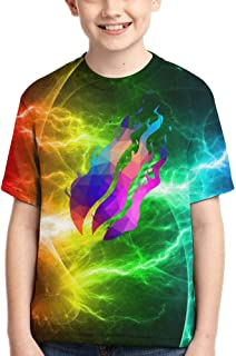 Enicuter Boys Girls T-Shirt Preston Playz Nation Gamer Flame Crewneck Short Sleeve Tees 6-16 Years
