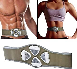 GOUWEI New Electronic AB Gymnic Gymnastic Body Building ABS Belt Exercise Toning Toner Waist Muscle Body Massager Drop Shi...