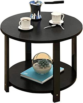 Desk Mount The Tea-Tabelle.Einfach Double Layer Coffee Table Living Room Sofa Side Table Frame Book Magazine Rack Room Negotiating Table (Color : C, Size : 50cm)