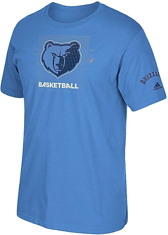 Memphis Grizzlies blueee Adidas Key to Victory Mens Short Sleeve T Shirt