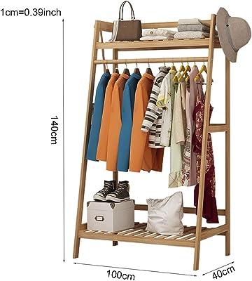 Amazon.com: Perchero de bambú para colgar ropa, estante ...