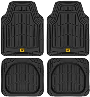 CAT Deep Dish Rubber Floor Mats All Weather for Car Truck SUV & Van Total Protection Durable Trim to Fit Liners Heavy Duty...