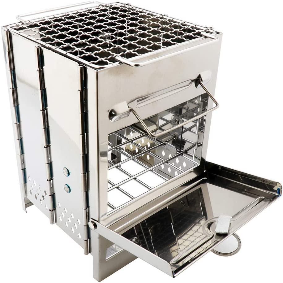 ZJJ Barbecue Our shop OFFers the best service Grill Stainless Steel Shipping included Outdoor BBQ Picnic Portable