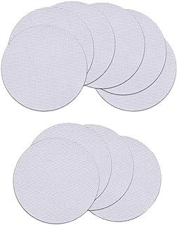 8 Pezzi Grandi Adesivi Circolari Trasparenti Antiscivolo con 2 Pezzi Raschietto Modello di Ghiaia Foglia Adesivi Doccia Antiscivolo Adesivi Antiscivolo Rotondo Sicurezza Bagno Diametro 12 cm