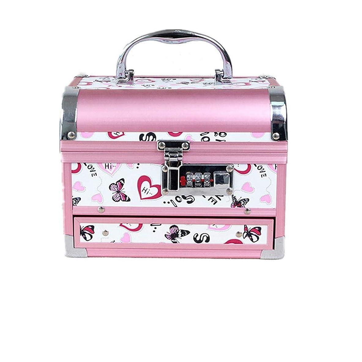 委員長インスタンス各化粧オーガナイザーバッグ かわいいパターンポータブル化粧品ケーストラベルアクセサリーシャンプーボディウォッシュパーソナルアイテムストレージロックと拡張トレイ 化粧品ケース