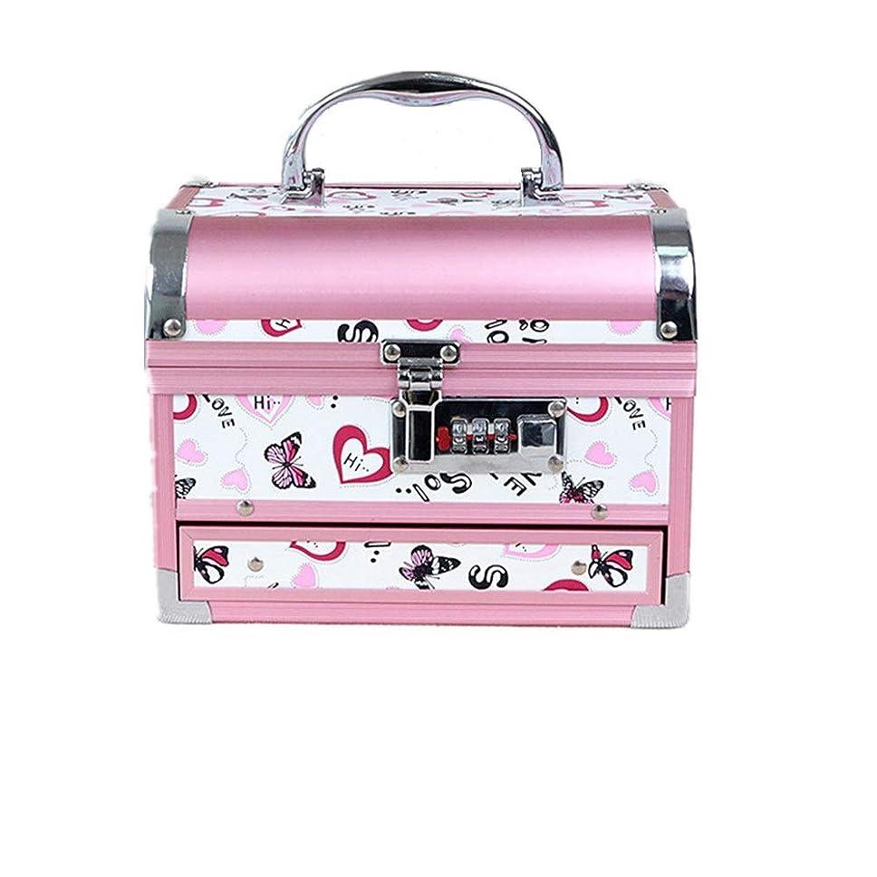 スクリュー雷雨化粧オーガナイザーバッグ かわいいパターンポータブル化粧品ケーストラベルアクセサリーシャンプーボディウォッシュパーソナルアイテムストレージロックと拡張トレイ 化粧品ケース