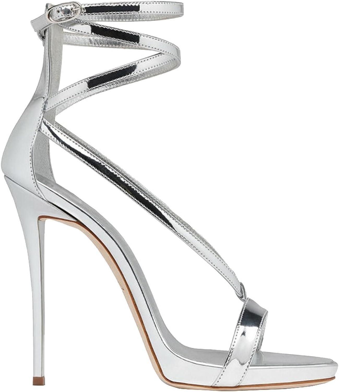 Women's Open-Toed Fine-Heeled Sandals Girls Fashion Party Heels