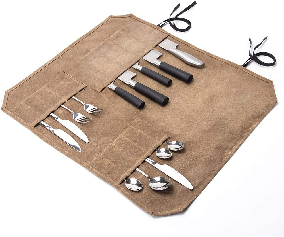 """Khaki Flatware Organizer Hold Limited 5 ☆ popular Special Price Knife To 21"""" Waxe Utensil Up"""