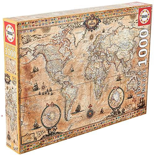 Educa- Mapamundi Puzzle, 1000 Piezas, Multicolor (15159)