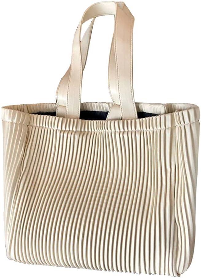 WQSMSZ Large discharge sale Ladies Soft Artificial Soldering Leather Pleat Shoulder Bag Handbag