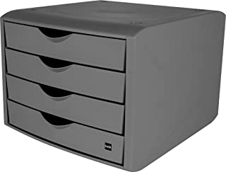 Helit - Boîte de rangement pour tiroir « The green chameleon » en plastique recyclé certifié par un ange bleu gris clair