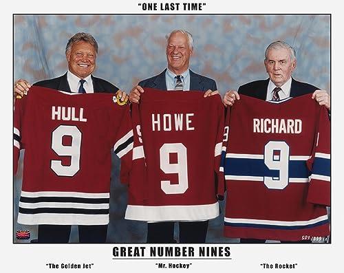 Generic Les Trois Grands Nines Maurice Richard, Gordie Howe et Bobby Hull