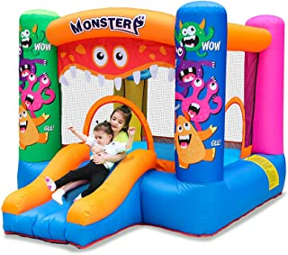 Doctor Dolphin Inflatable Toddler Bounce House Kids Bouncy Castle Slide for Indoor Party with Air Blower