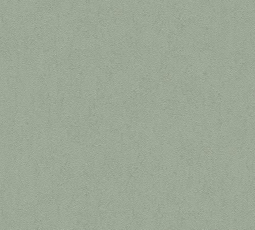 A.S. Création Vliestapete Luxury Walls Tapete Uni 10,05 m x 0,70 m grün Made in Germany 356161 3561-61