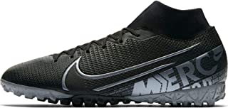 Nike Mercurial Superfly 7 Academy TF Turf Soccer Shoes- Black (9)
