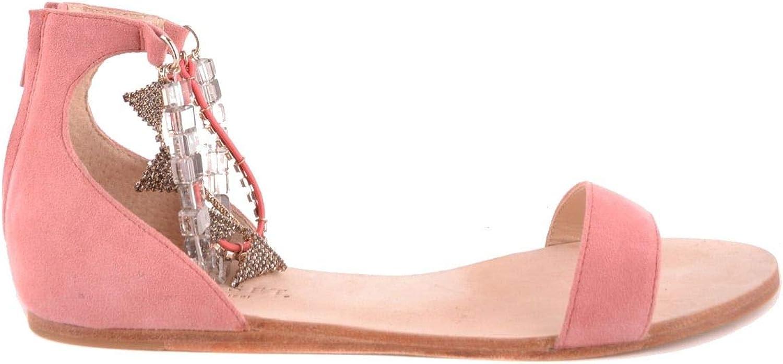 TWIN-SET Women's MCBI30672 Pink Suede Sandals