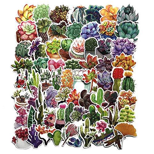 BLOUR 70 Stück/Los Sukkulente Kaktus Mini Papier Aufkleber Dekoration Aufkleber DIY für Handwerk Tagebuch Scrapbooking Planer Kawaii Label Aufkleber
