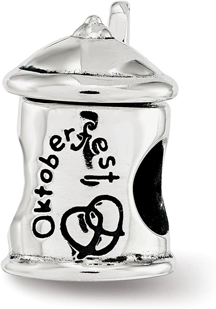 Sterling Silver Reflections Octoberfest Beer Bead Sacramento Mall security Stein