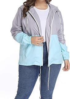 b8659136 Women's Waterproof Raincoat Outdoor Hooded Rain Jacket Windbreaker XL-5XL