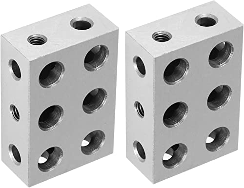 new arrival findmall 1-2-3 online sale Blocks 11 Holes Matched Pair Ultra Precision .0001 Machinist lowest Fit for Milling Machine outlet online sale