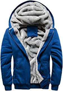 Howely Men Fleece Relaxed-Fit Hoode Sports Oversized Zip Up Outwear Sweatshirts