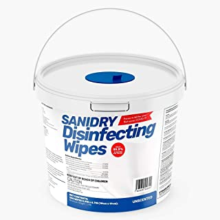 ROSMAR SaniDry Disinfecting Wipes, 300 Count, EPA Approved, Unscented, White, Nonabrasive, Multi-Surface Cleaning Wipes, f...