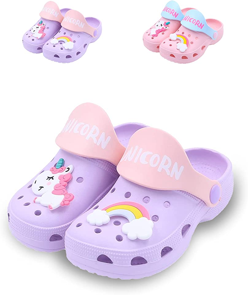 Clogs Kids Garden Shoes Boys Girls Anti-Slip Indoor Outdoor Shower Slippers Summer Soft Beach Swimming Sandals