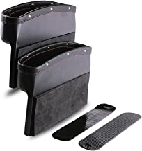 Car Seat Pockets PU Leather Car Console Side Organizer Seat Gap Filler Catch Caddy with..