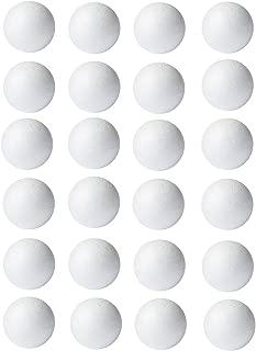 Foam Balls for Crafts, 24-Pack Styrofoam Balls, 2 Inches in Diameter, White