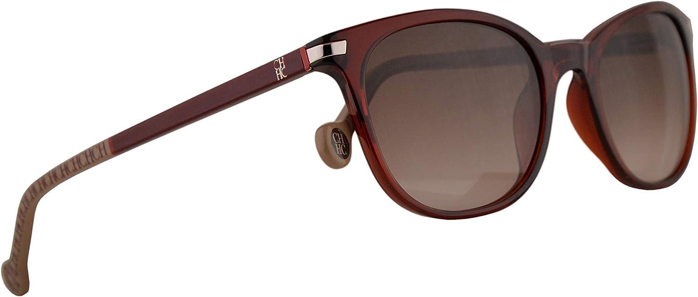 Carolina Herrera SHE650 Sunglasses Shiny Red w Brown Gradient Lens 50mm 06DC SHE 650