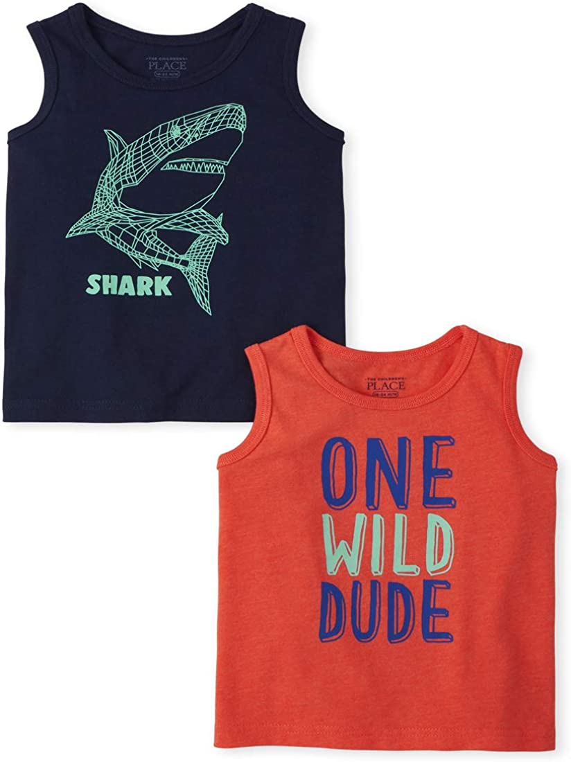 The Children's Place Boys' Graphic Tank Tops, Pack of Two