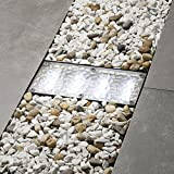 Solar Brick Landscape Path Light, 8x4 Recessed Polyresin Paver, Cool White LEDs, Waterproof, Outdoor...