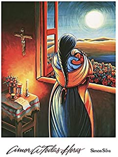Amor a Todas Horas (Love at all Hours) Mother and Child by Simon Silva Art Print Poster, Overall Size:16x20, Image Size: 12.75x15