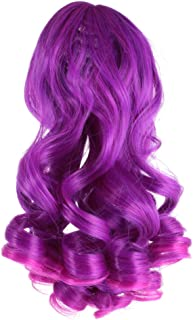 CUTICATE Purple Long Wavy Hair for 1/3 BJD/SD Doll Wigs for Girls Ball Jointed Dolls DIY Accessories