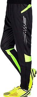 GEEK LIGHTING Men's Soccer Training Pants, Zipper Pocket Track Pants for Workout, Gym, Running