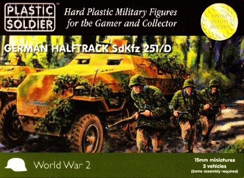 15mm WW2 German SdKfz 251 Ausf D Halftrack