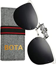 Bota Clip On Sunglasses Over Prescription Glasses, Polarized Large Sunglasses for Women Men Kids UV Protection Driving Shopping Camping Outdoor Sports