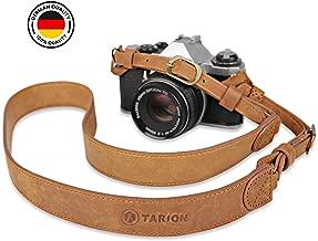 TARION Camera Strap Leather Vintage DSLR Camera Neck Straps Belt Handmade Genuine Leather Film Camera Shoulder Strap Cord Long Rope Adjustable for SLR Mirrorless Cameras L2
