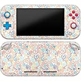 Cavka Vinyl Decal Skin Compatible with Console Switch Lite (2019) Stickers with Design Colored Swirls Protector Wrap Cover Pattern Curl Durable Simple Set Confeti Full Orange Print Faceplate Art Blue