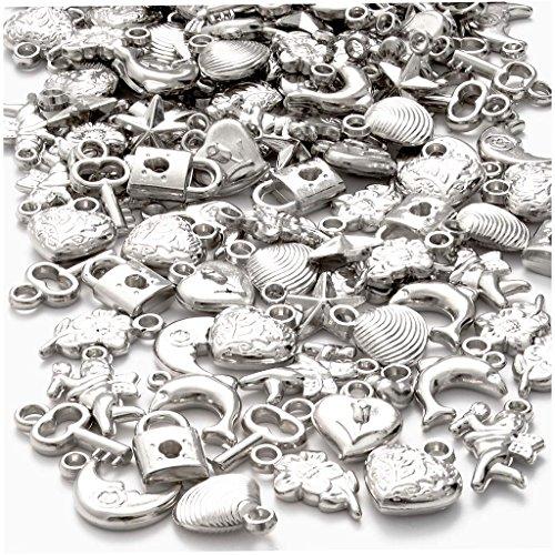 Silber-Charms, Größe 15-20 mm, 80g