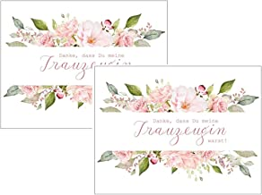 Paquete doble de tarjetas – Gracias, que has sido mi testigo warst! - Idea de rosas para bodas, agradecimiento, hermana, mejor regalo para tu novia
